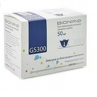 Тест-полоски Bionime Rightest GS300 50-шт.