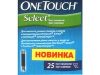 Тест-полоски One Touch Select (25 шт.)